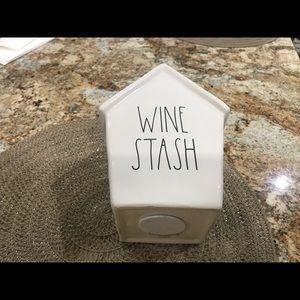 Rae Dunn new wine stash bank
